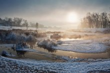 Мороз и солнце / п.Желнино р.Осавец -25 градусов