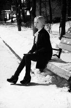 Зима. Вечер / модель Оля Разварина  г. Вологда, ул. Пирогова