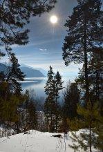 Февральское солнце Телецкого озера / Февральское солнце Телецкого озера