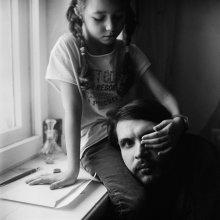 Сергей (портрет с дочкой) / Витебск, 2013
