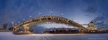 Патриарший мост (вид со льда) / Холодно, был сильный мороз... Москва-река замерзла...
