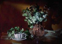 Чай с цветами / теплый вечер