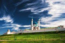 Без названия / Qolşärif Mosque утром. Здесь чувствуется ветер времён.