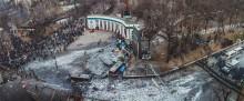 ул. Грушевского / Киев, 20.01.2014 Противостояние между полицией и активистами.