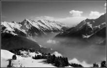 Паря, над облачной рекой / Тирольские Альпы, с параплана
