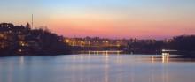 / Киевский мост, церковь Святой Ксении Петербургской, р. Южный Буг, г. Винница