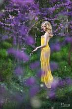 в цветущих садах / прогулка, до заката солнца