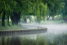 туман после грозы / Минск после грозы с ливнем и градом