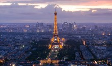From Paris . . . / View from Montparnasse tower. 57th floor.