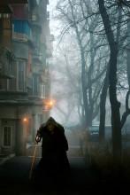 Туманный вечер / Вечер. Туман. (цвет. вариант)