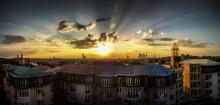 Закат в Москве / Полное разрешение этого снимка 88 мегапикселя. Снято на телефон )