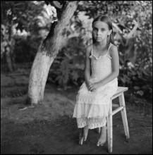 Портрет Полины в белом платье /