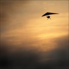 Вечерний полет / всматриваясь в небо