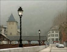 Нарисовано утренним светом... / Снято где-то во Франции, проездом из Валь Торанса в Гренобль. На ЗП горный склон, поросший деревьями. Раннее утро.
