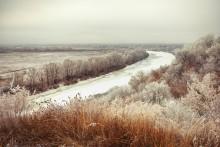 «Десна в декабре» / Вид на реку с городского парка.