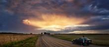 Наблюдая закат... / Закатная, возле Пружан.