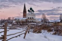 Зима в Осенево / Церковь Казанской иконы Божией Матери (1783, 1820 г). Осенево. Гаврилов-Ямский район.