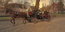 In the streets of Bruges. / ***