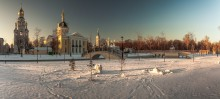 Зимний вечер в Рогожской слободе / Москва. Рогожский старообрядческий поселок
