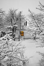 Зимнее утро в частном секторе / Зимнее утро