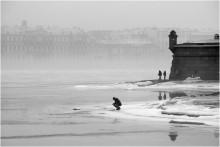 Подлёдная рыбалка / Питер, зима, точнее то, что от неё осталось.