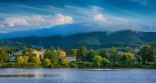 Утро в горах / Низкие облака