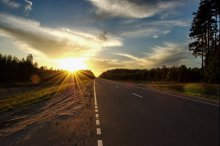 """дорога по имени """"солнце"""" / дорожный закат"""