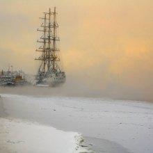 На зимовке / Нева. Зима