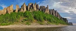 Ленские.... / Панорама Ленских столбов на реке Лена