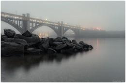 Закат, Мост им. Преображенского. Запорожье. / ***