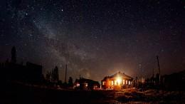 Пейзаж под звездами / Рязанская область, май, глушь глухая и красота