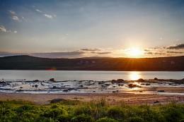Полярный День / Время 12 часов ночи , солнце в полярный день не заходит за горизонт все лето.