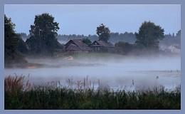 """Раннее утро на реке Кубань 2 / Костромская область. Река Кубань (ударение на """"у""""). Приток Волги. Совсем недалеко от устья."""