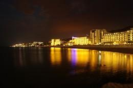 Golden night / Ряд отелей в Болгарии (Золотые пески)