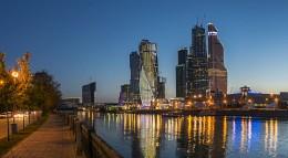 Москва сити / панорама из 5 вертикальных кадров