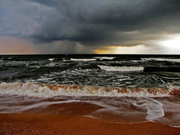 дождь на море / Азовское море