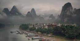 Дождливое утро на реке Ли / Xinping