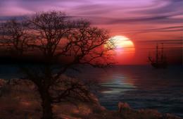 Красно солнышко... / Солнышко над морем