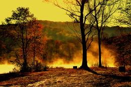 Осень, вновь я лишена покоя,,, / Утро осеннее. Туман над озером, Приморский край.
