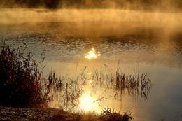 Осенний рассвет. / Рассвет на озере.