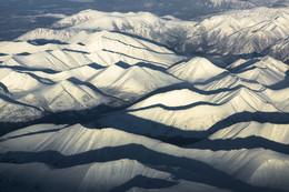Саянские волны / Саяны с высоты 7000м.