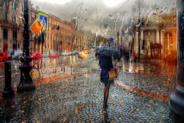 осенний дождь на Невском проспекте.. / Санкт-Петербург