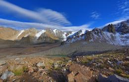 Альпиниград / несколько пиков и ледников