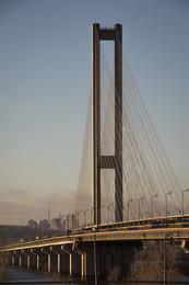 Струны Южного моста.Киев. / ---