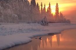 вечерние прогулки / Всё изменилось сразу на земле, Став белоснежным, лёгким и летящим, И радуется сердце новизне, Зиме морозной, самой настоящей!
