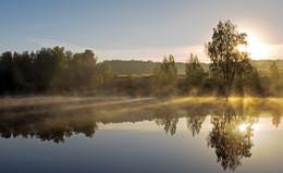 Рассвет,туман / Туманные дни золотой осени....