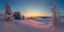 Мягкий снег. / Ладожское озеро. Карелия. Январь, 2016.