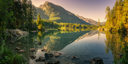 Утро озера Хинтерзее / Верхняя Бавария. http://www.youtube.com/watch?v=pbZ4t45SWLI