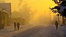Деревенское утро / Тоора-Хем, Тоджинский кожуун, Тува.