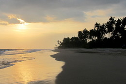 Закат над океаном / Шри-Ланка закат